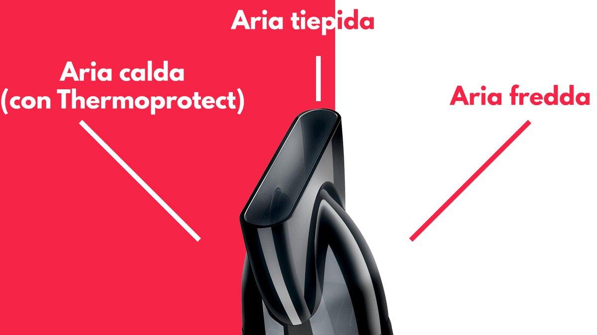 Particolare aria calda tiepida fredda phon asciugacapelli Philips 8230 00 Thermoprotect