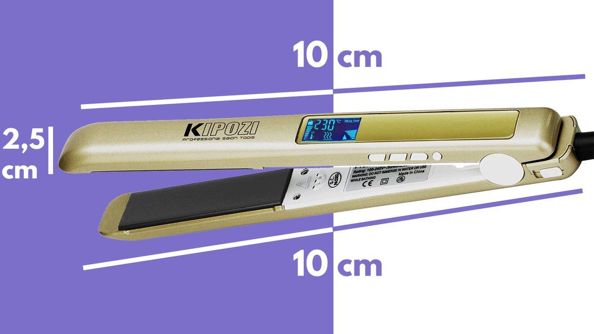 Particolare dimensioni KIPOZI pro piastra capelli