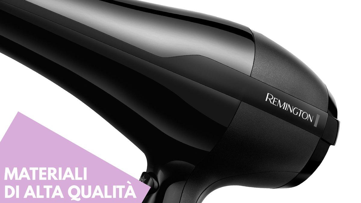 Particolare materiali asciugacapelli phon Remington AC5999 Pro air