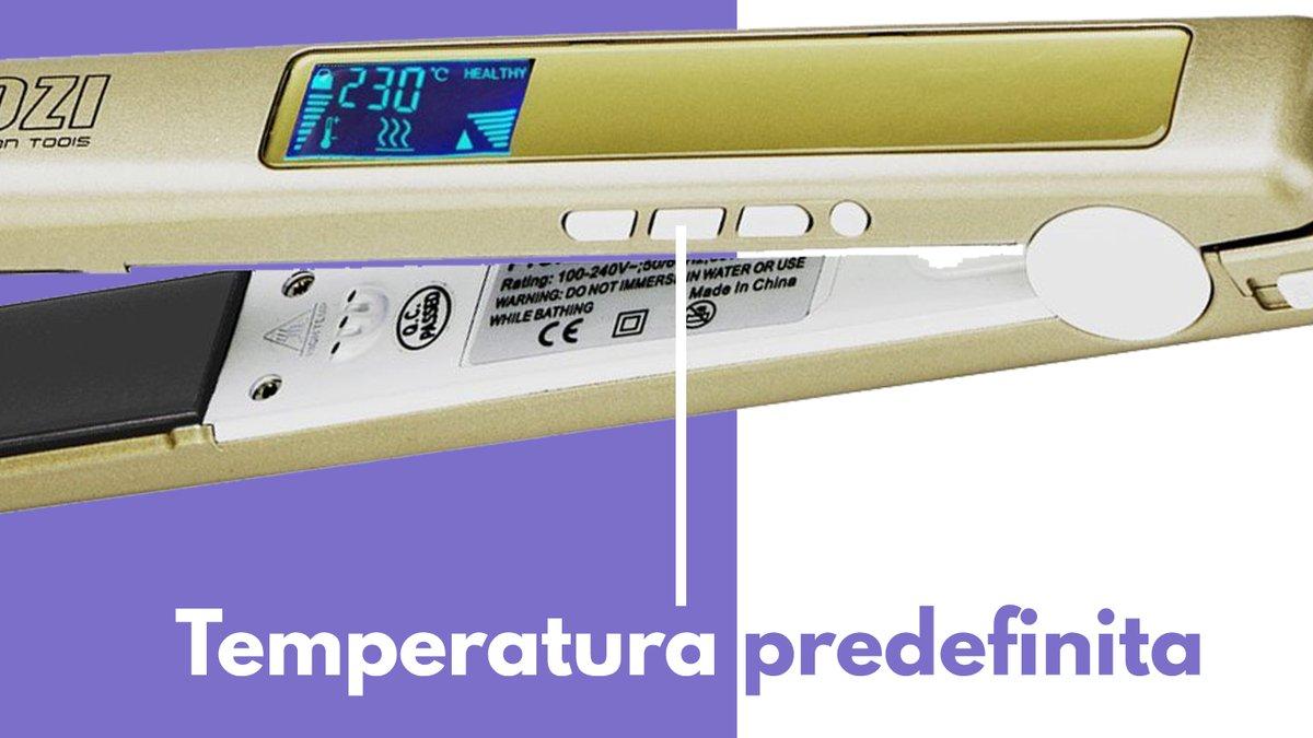 Particolare temperatura predefinita pulsante piastra capelli KIPOZI Pro