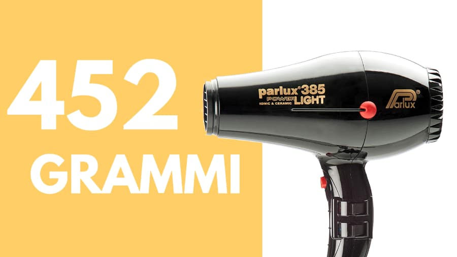Particolare peso Parlux 385 Powerlight