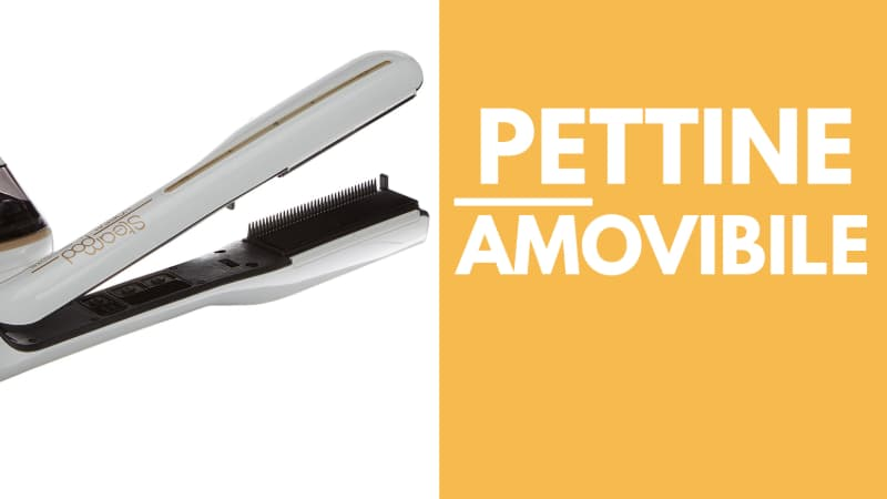 Particolare pettine amobvibile l'Oreal Steam Pod