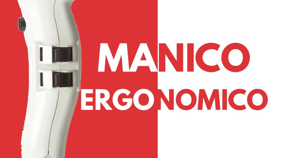 Paticolare manico ergonomico asciugacapelli phon Parlux 385 powerlight