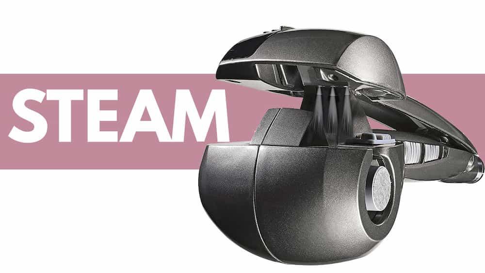 Funzione Steam arricciacapelli vapore BaByliss pro Mira Curl Steam