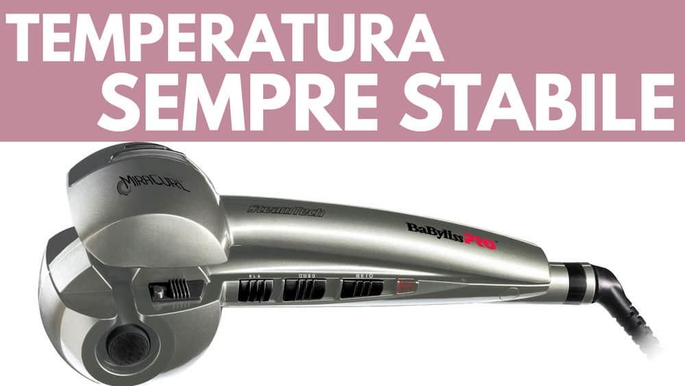 Particolare temperatura stabile arricciacapelli BaByliss Pro Mira Curl Steam