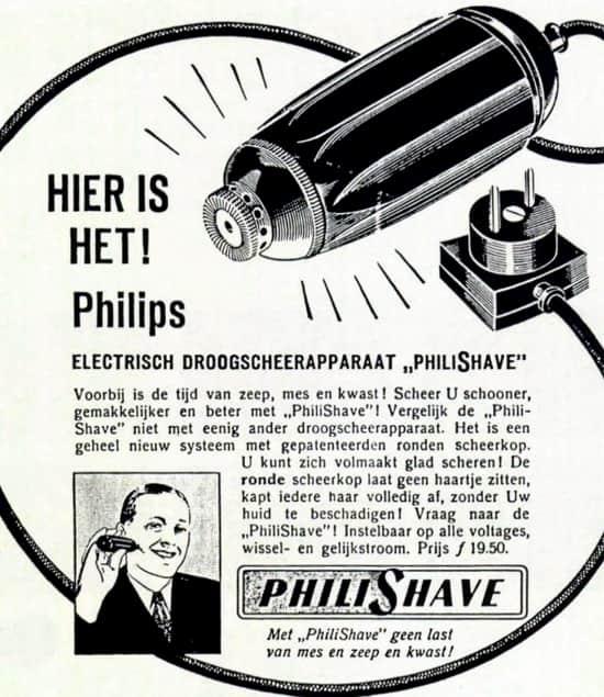 Pubblicità Philipshave 1939
