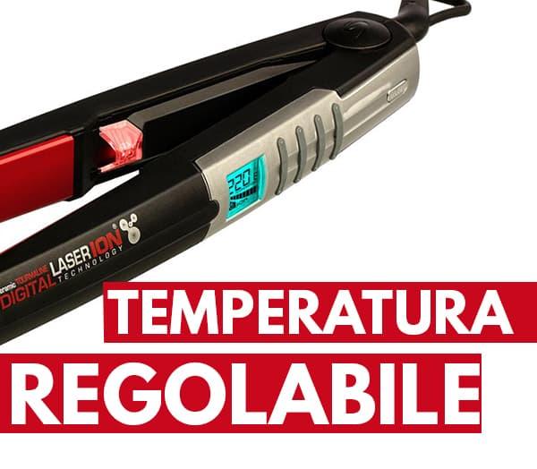 temperatura regolabile piastra per capelli Gama Italy